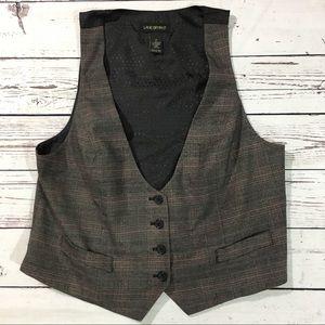 Lane Bryant career plaid vest